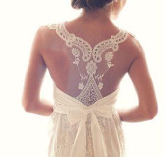 Suknie ślubne z koronkami.