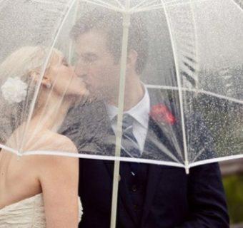 Deszcz w dniu ślubu – jak sobie z nim radzić?