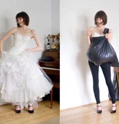5 prostych kroków na załatwienie potrzeby fizjologicznej w sukni ślubnej.