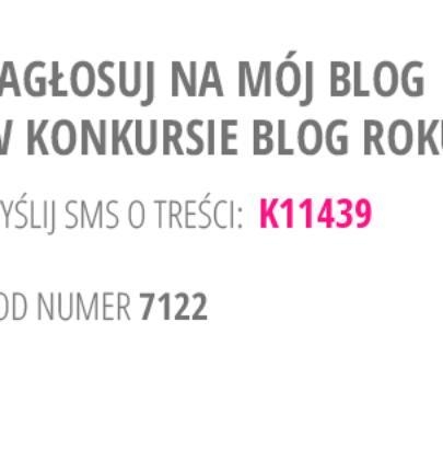 Bierzemy udział w plebiscycie BLOG ROKU 2014!