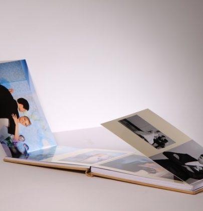 Fotoalbum ze skrzydełkami.