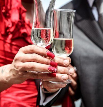 Alkohol na weselu.
