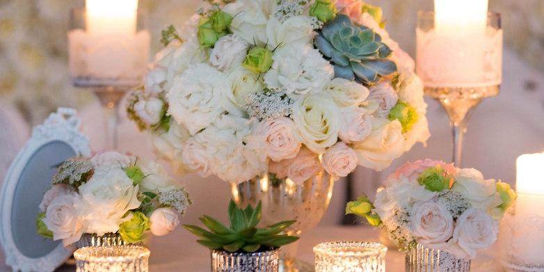 Bukiety ślubne w jednym kolorze