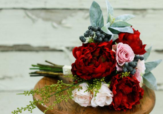 bukiet z czerwonych róż