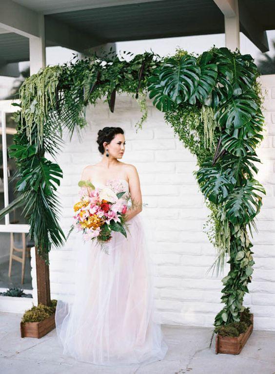 Przyjęcie weselne na zielono