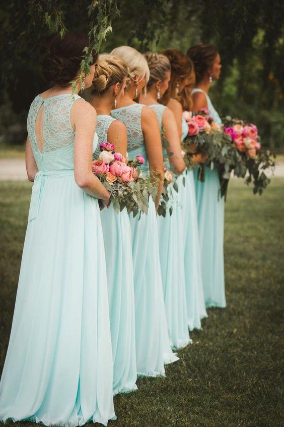 błękitna suknia dla druhny