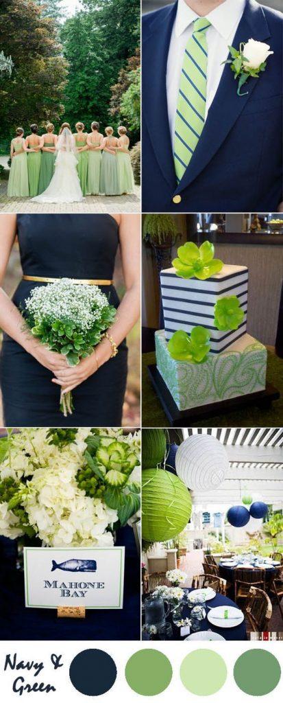 motyw zieleni na weselu