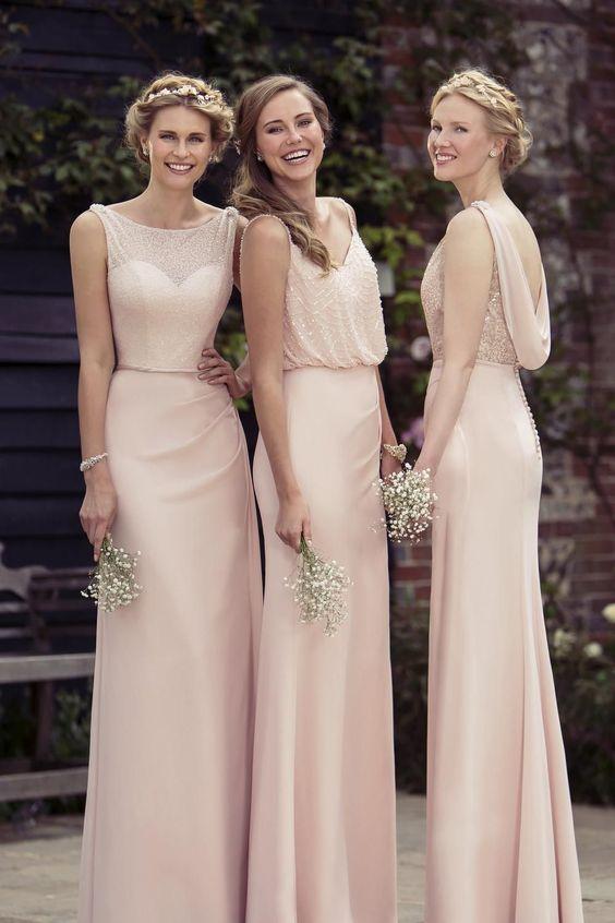 pastelowa suknia dla druhny