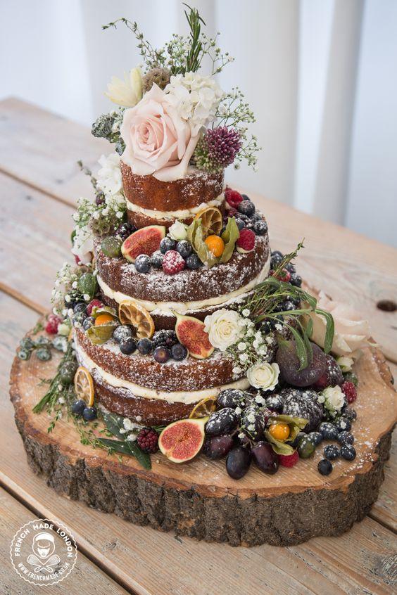 Rustykalny tort weselny