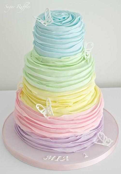 kolorowy tort weselny