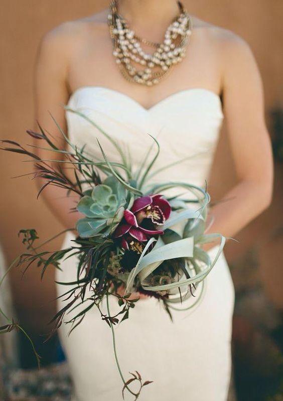 sukulenty dekoracje weselne
