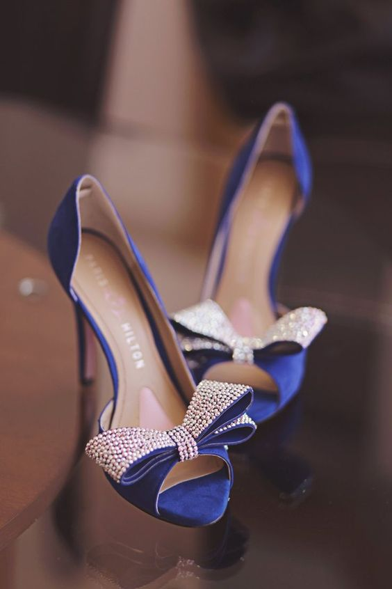 błękitne buty ślubne