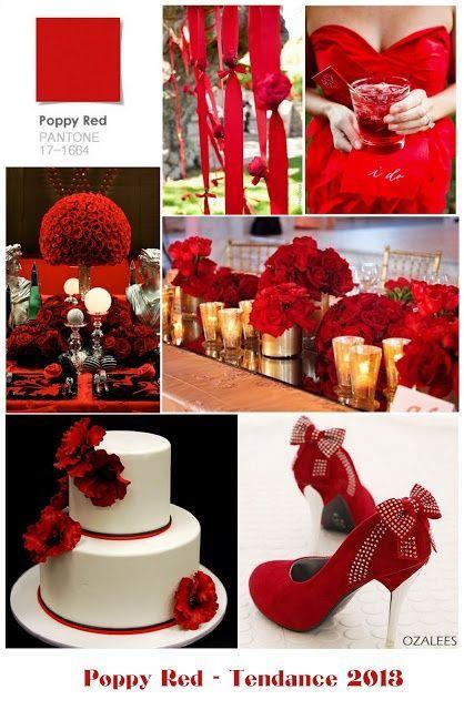 przyjęcie weselne w kolorze czerwonym