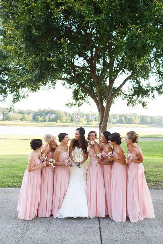 przyjęcie weselne w kolorze różowym