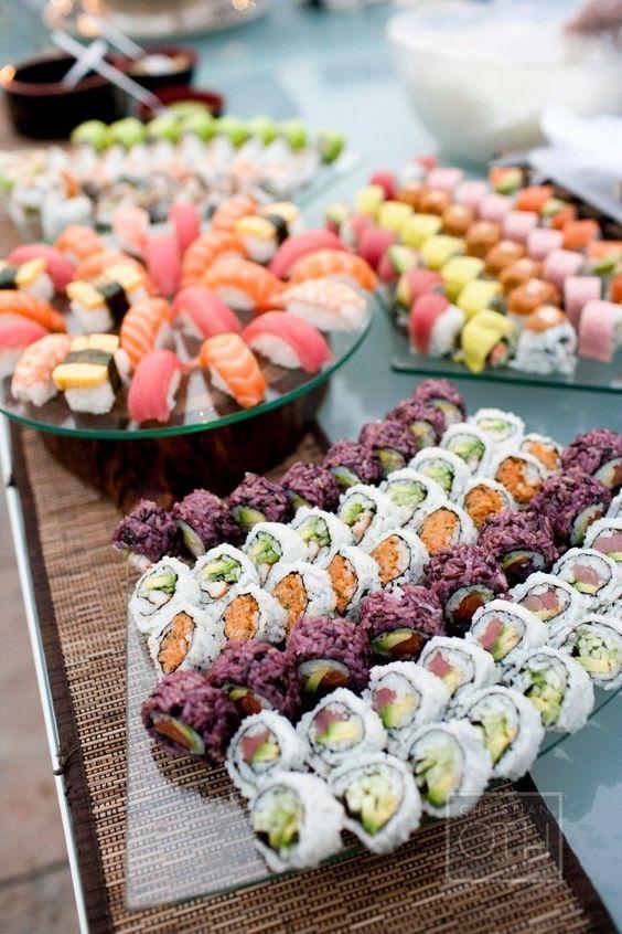 Stół rybny na wesele
