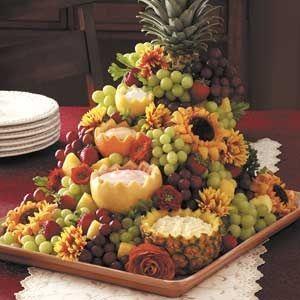 stół owocowy na wesele