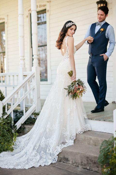 suknia ślubna dekolt na plecach