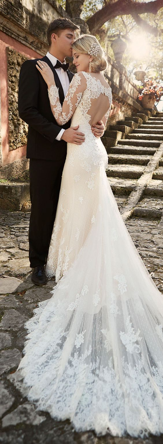 Uwaga Nowy Trend Suknie ślubne Z Długimi Rękawami Podbijają świat