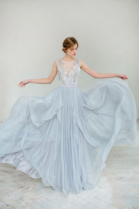 80bc937412 Błękitna suknia ślubna