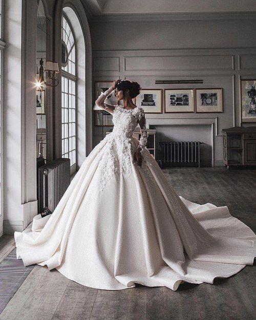 Księżniczkowy model sukni ślubnej