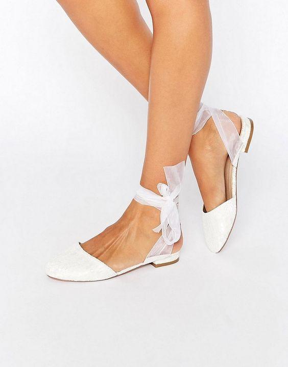 buty baleriny ślubne