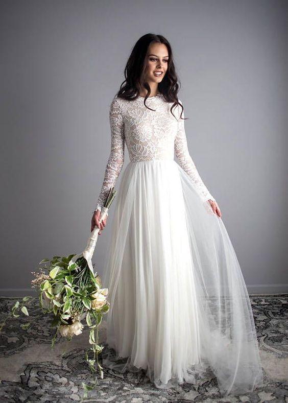 rustykalna suknia ślubna