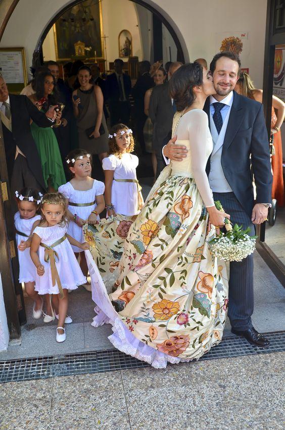 kolorowe suknie ślubne