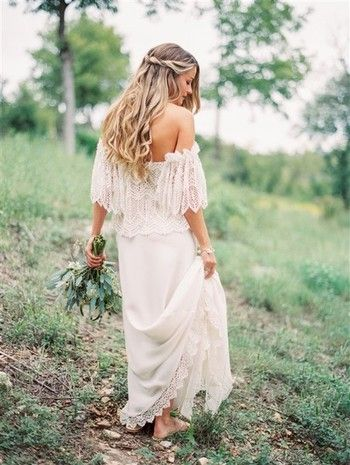 stylizacje ślubne w sylu boho