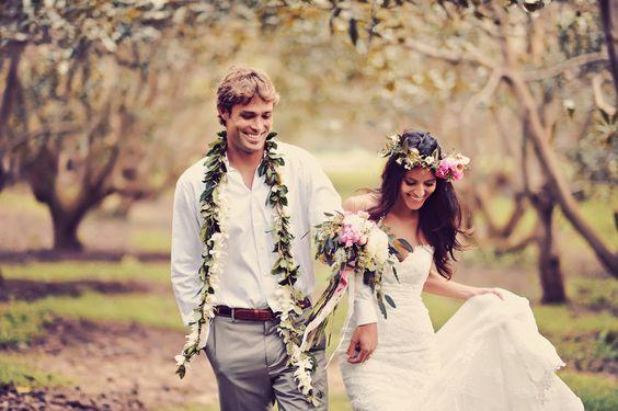 Boho garnitur ślubny