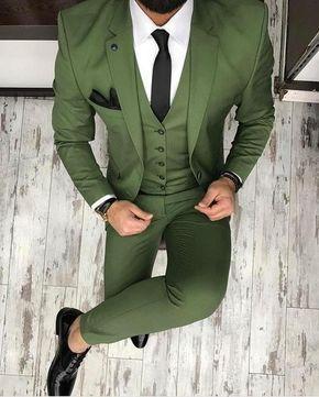 zielony garnitur ślubny