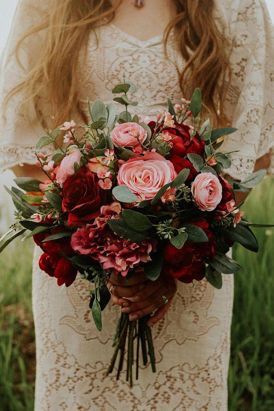 romantyczne kwiaty ślubne