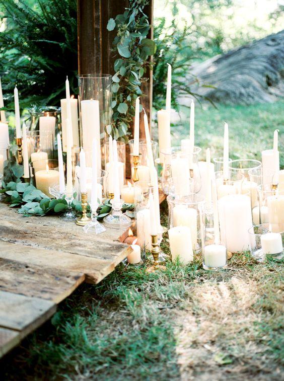 romantyczne świece na wesele