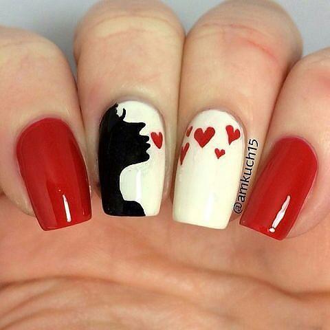 manicure ślubny slubne lub milosne wzorki