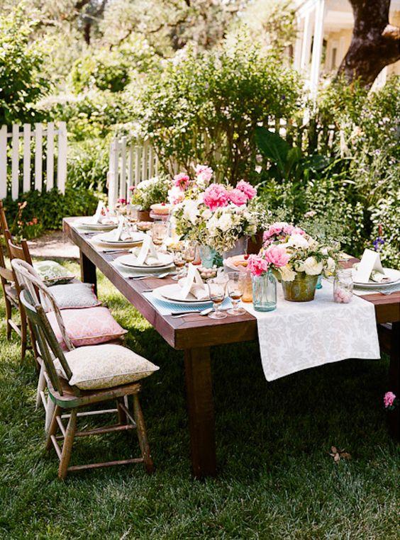 przyjęcie weselne w ogrodzie