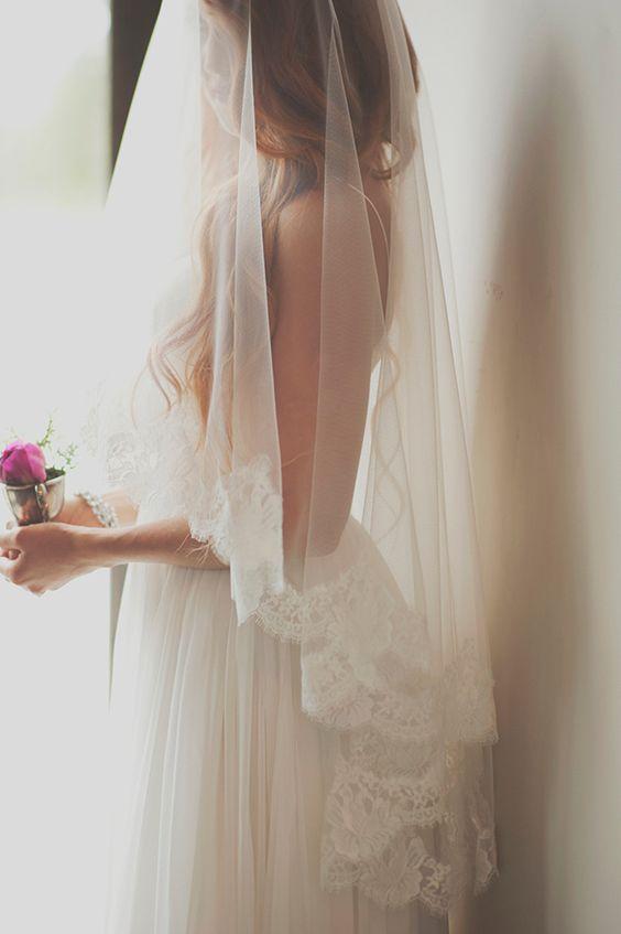 ślubny welon w stylu hiszpańskim
