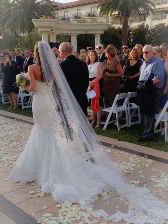welon ślubny typu katedra