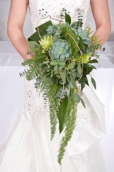 Sukulenty w ślubnym bukiecie