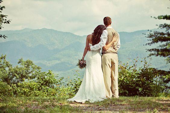 Sesja poślubna w górach