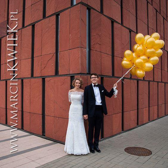 Sesja poślubna w mieście