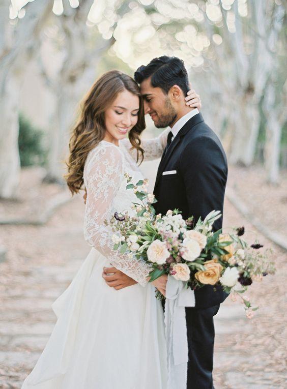 Sesja poślubna w parku