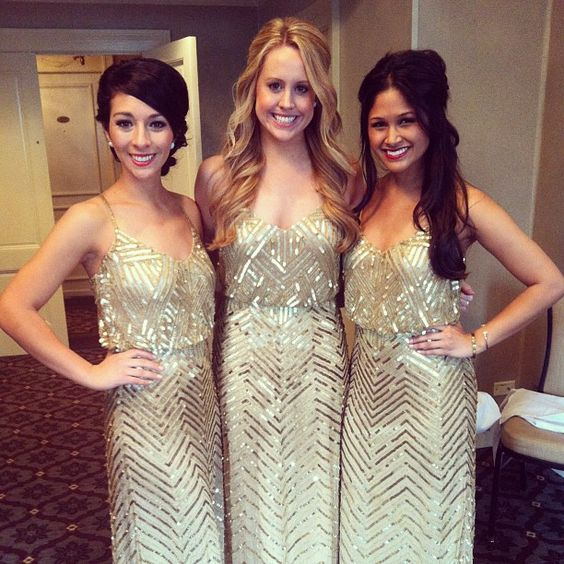 cekinowe sukienki dla druhen