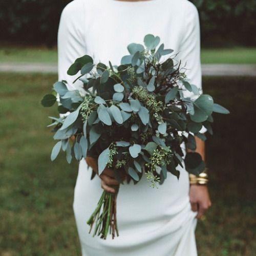 zielony bukiet ślubny