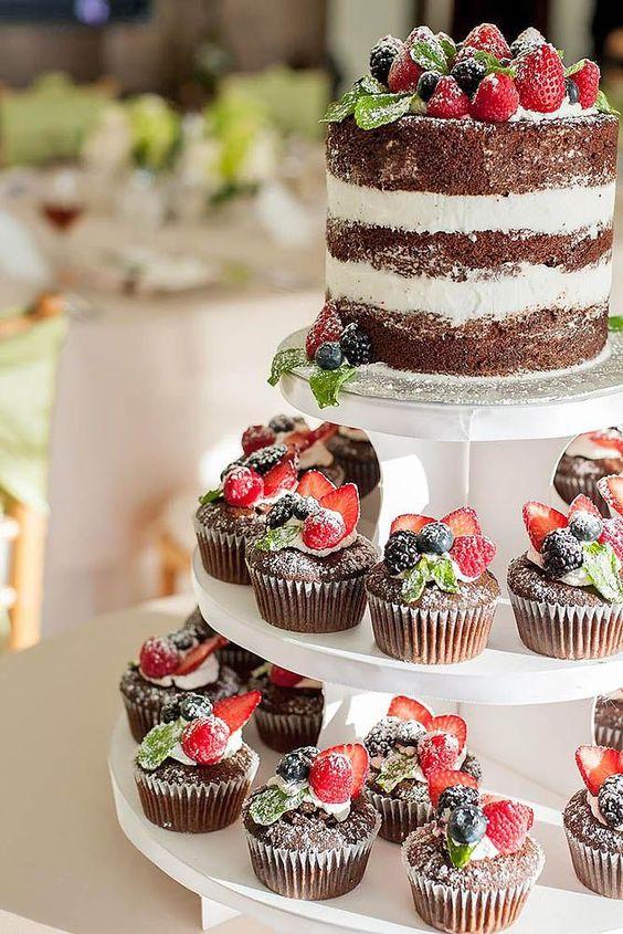 muffinowy tort weselny