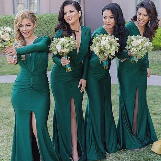 zielona suknia dla druhny