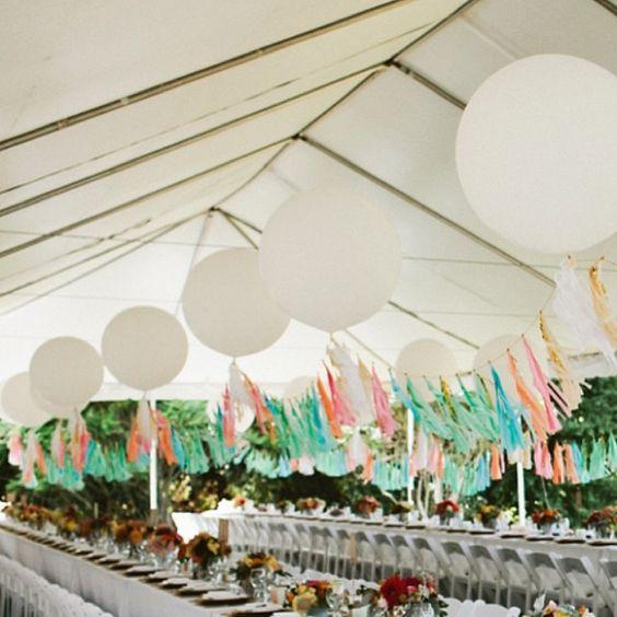 przyjęcie weselne pod chmurą